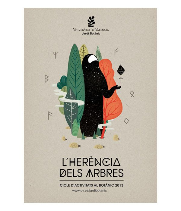 Jardí Botànic de València 2013 - Poster Illustration by Casmic Lab