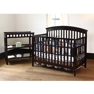 Summer Infant Fairfield 4 In 1 Fixed Side Crib And Changing Table Cordovan Crib And Changing Table Combo Cribs Summer Baby