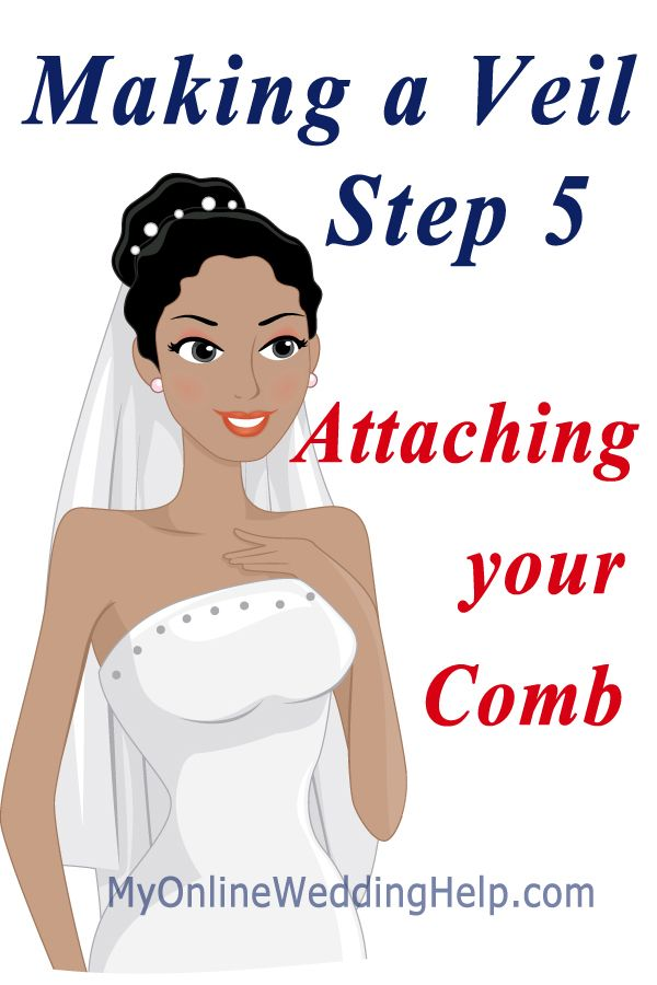 Make Your Own Veil Step 5 Attaching A Comb Myonlineweddinghelp