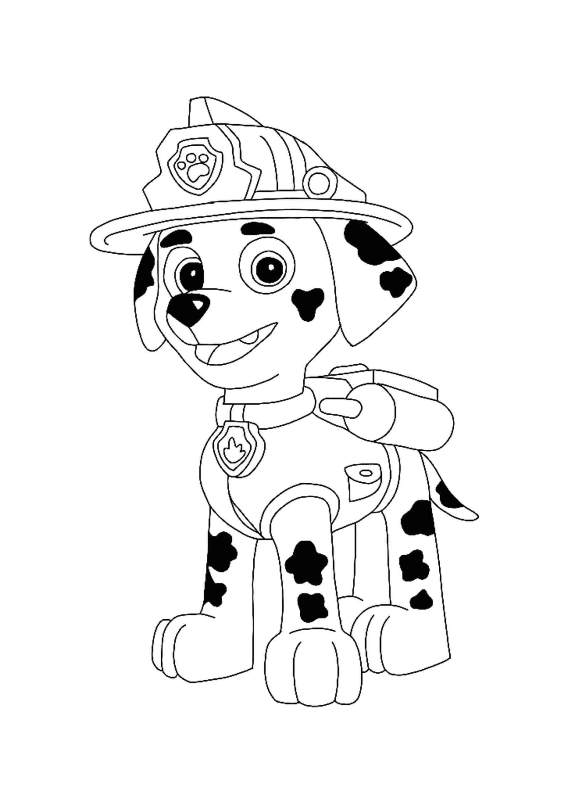 Paw Patrol Marshall Coloring Pages Paw Patrol Coloring Pages Paw Patrol Coloring Marshall Paw Patrol