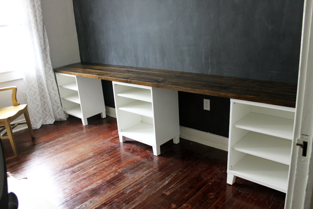 Diy 12 Foot Long Double Desk Caitlin Wallace Rowland Art Design In 2020 Diy Kids Desk Double Desk Craft Room Desk