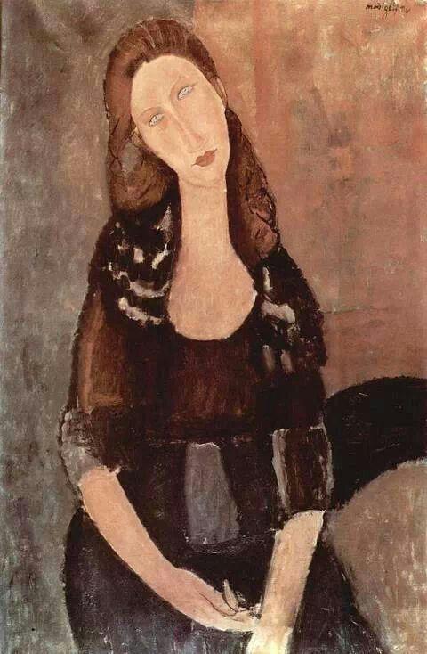 Amedeo Modiglianni, Portrait of Jeanne Hebuterne,