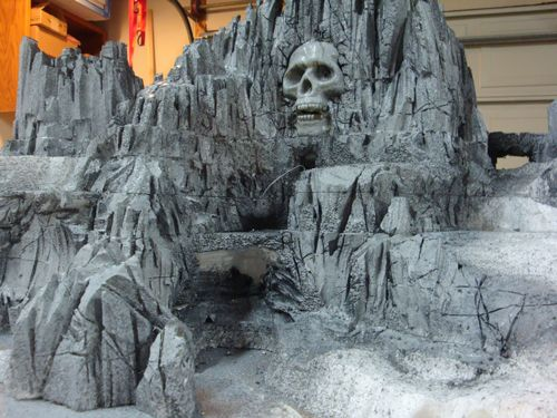 Halloween Skull Mountain Foam Village Display - Hot Wire Foam Factory