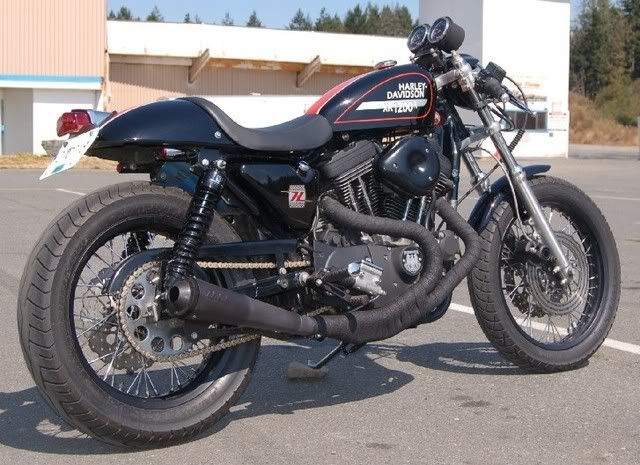 sportster cafe racer | 2012 WR250R, 2009 DL650A, 2008 Tiger 1050 ABS, 1994 XR100R
