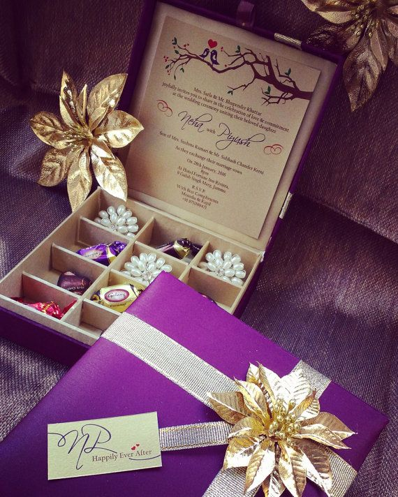 Chocolate Box Gift Box Wedding Invitation Box Wedding