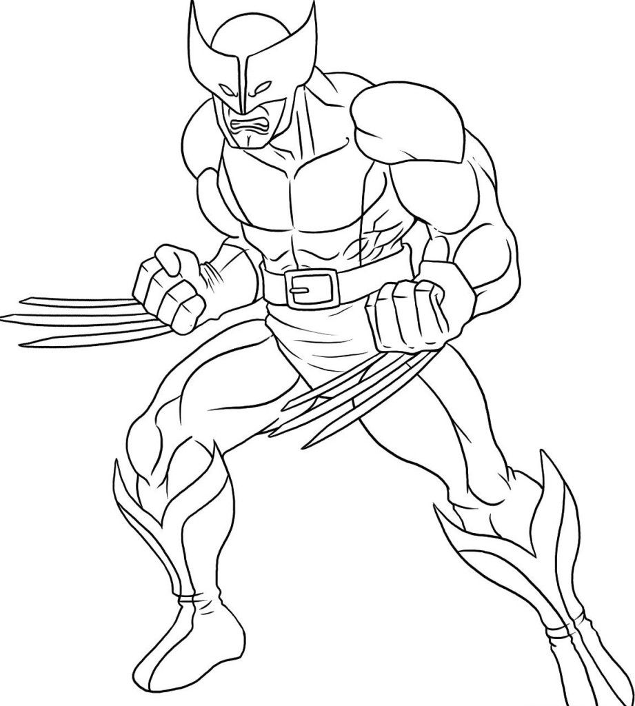 Colouring pages with colour - Free Superhero Coloring Page Wolverine Coloring Pages