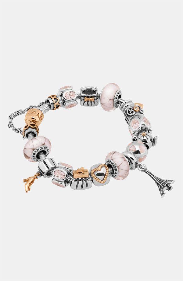 Pandora silver/gold/Paris | Pandora jewelry design ideas | Pinterest ...
