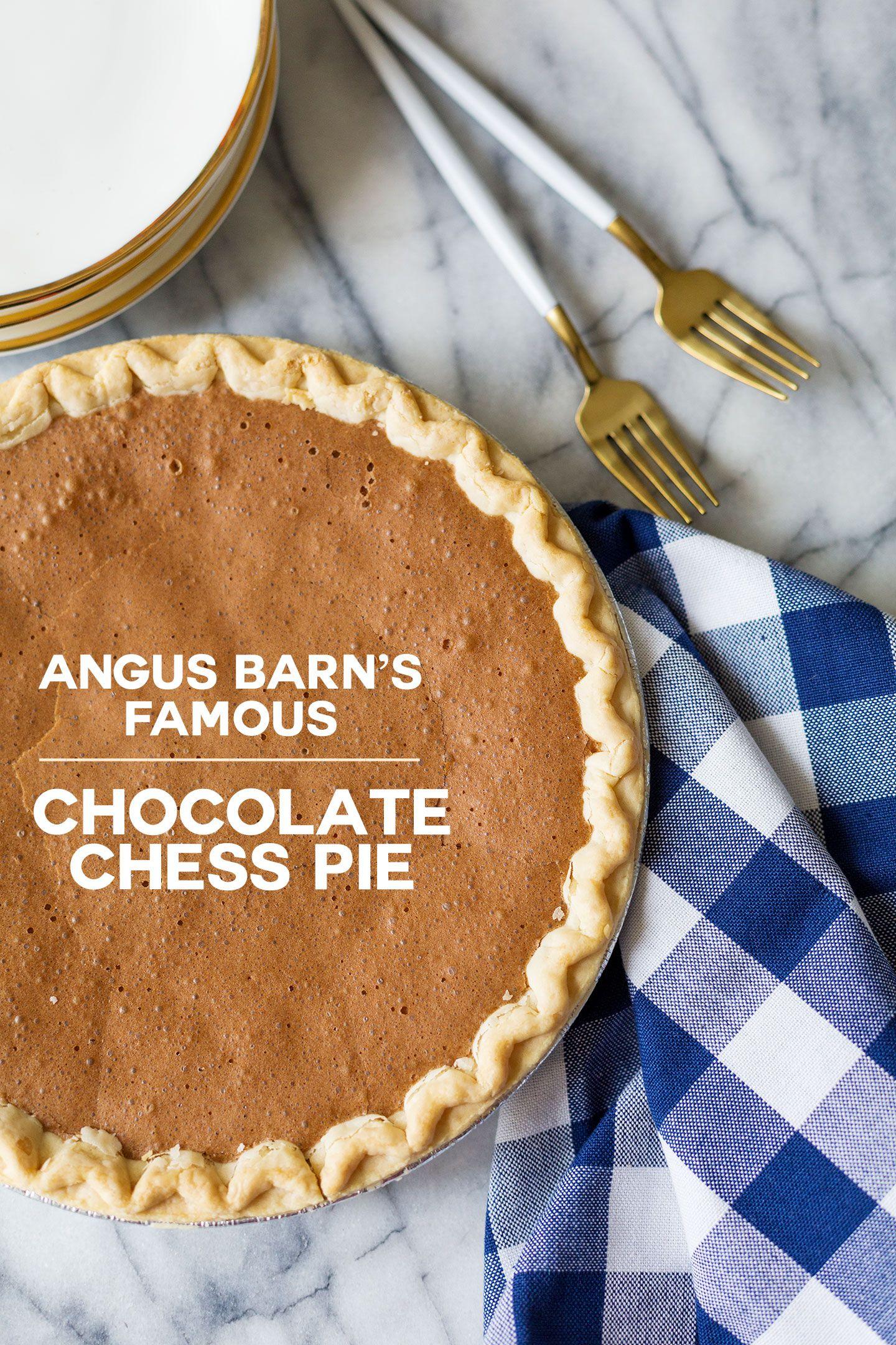 Angus Barn Chocolate Chess Pie   Recipe