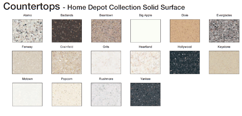 Home Depot Countertops Laminate Fabulous Granite Countertop Color With