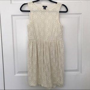 Cream lace dress rue 21