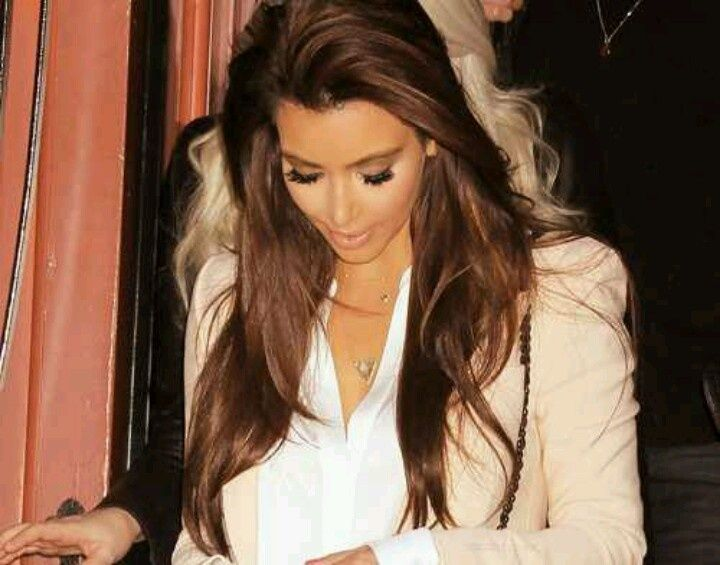 kim kardashian ccolate brown hair color - Google Search | Makeup ...