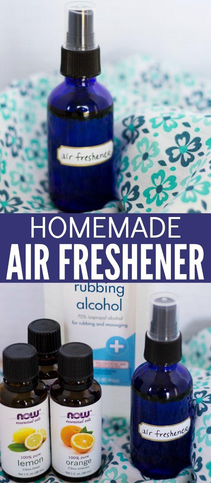 Homemade Air Freshener Spray Made with Essential Oils