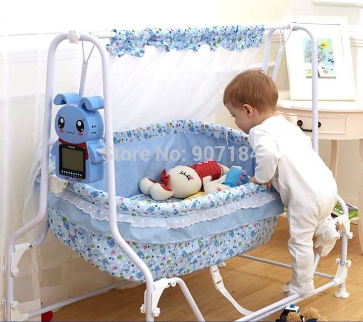 25a690b45a25 Multifunction Automatic Electric Swing Crib Newborn Baby Cradle Bed ...