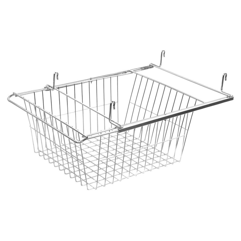 sliding wire basket drawer chrome grey room essentials products basket drawers wire. Black Bedroom Furniture Sets. Home Design Ideas
