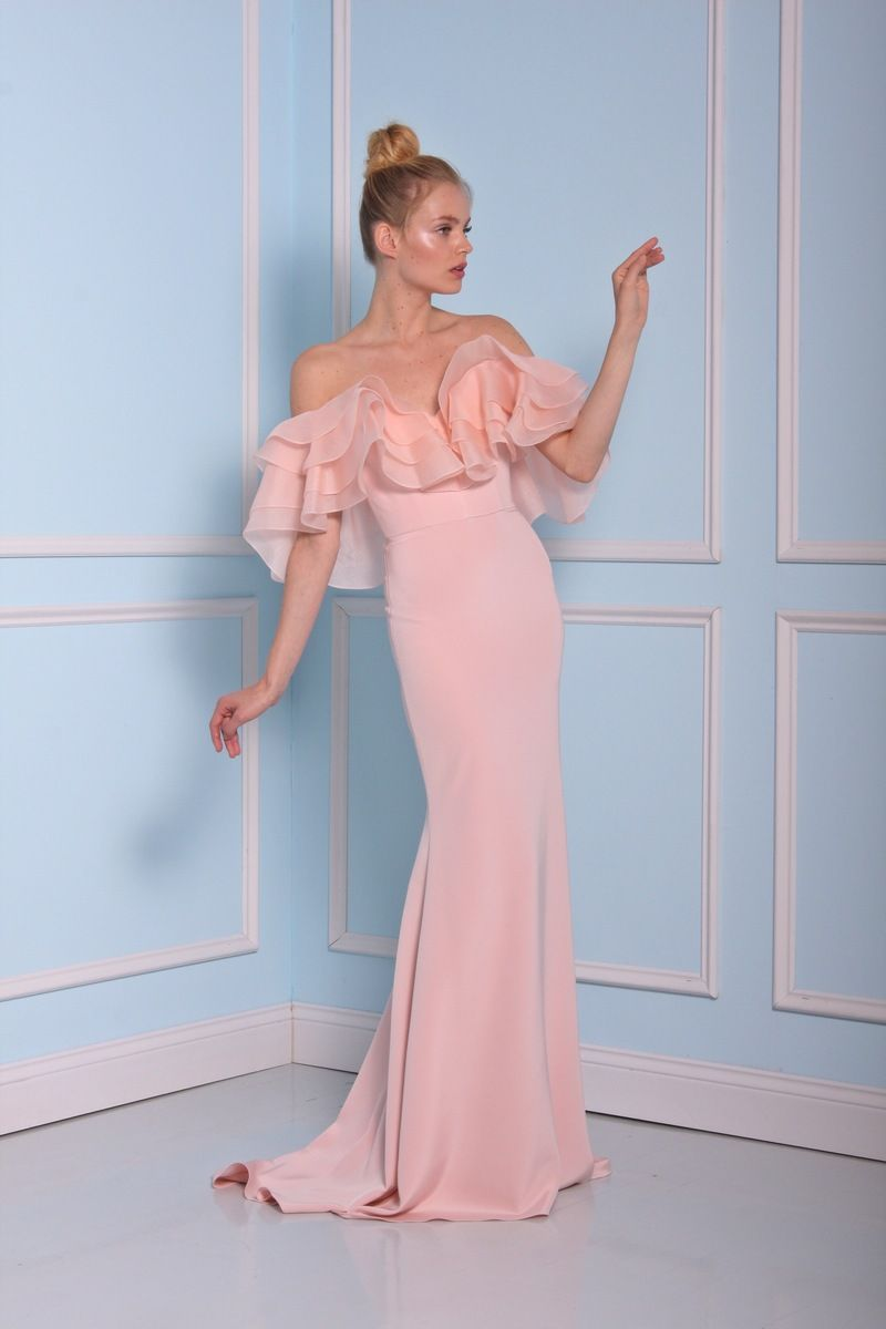 Pink Peach ruffle wedding dress by Christian Siriano wedding dresses 2016 | fabmood.com
