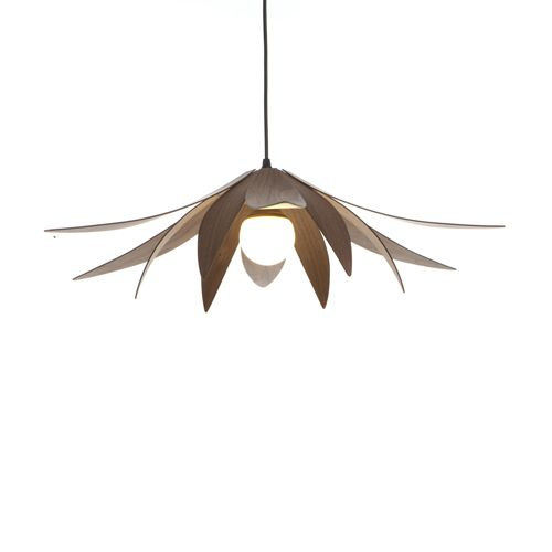 Lotus pendant light macmaster design illuminating experiences the lotus pendant light has an elegant floral design that uses soft and sweeping wood curves and is available in a selection of finishes and dimensions aloadofball Image collections