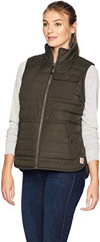 New Carhartt Women's Amoret Sherpa Lined Vest online shopping - Topfashionoutfits #carharttwomen