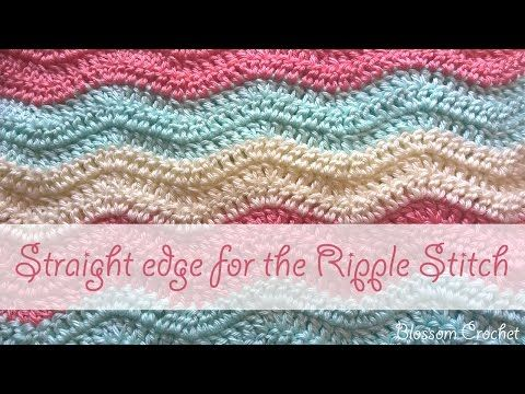 How To Crochet A Straight Edge On A Ripple Stitch Blanket