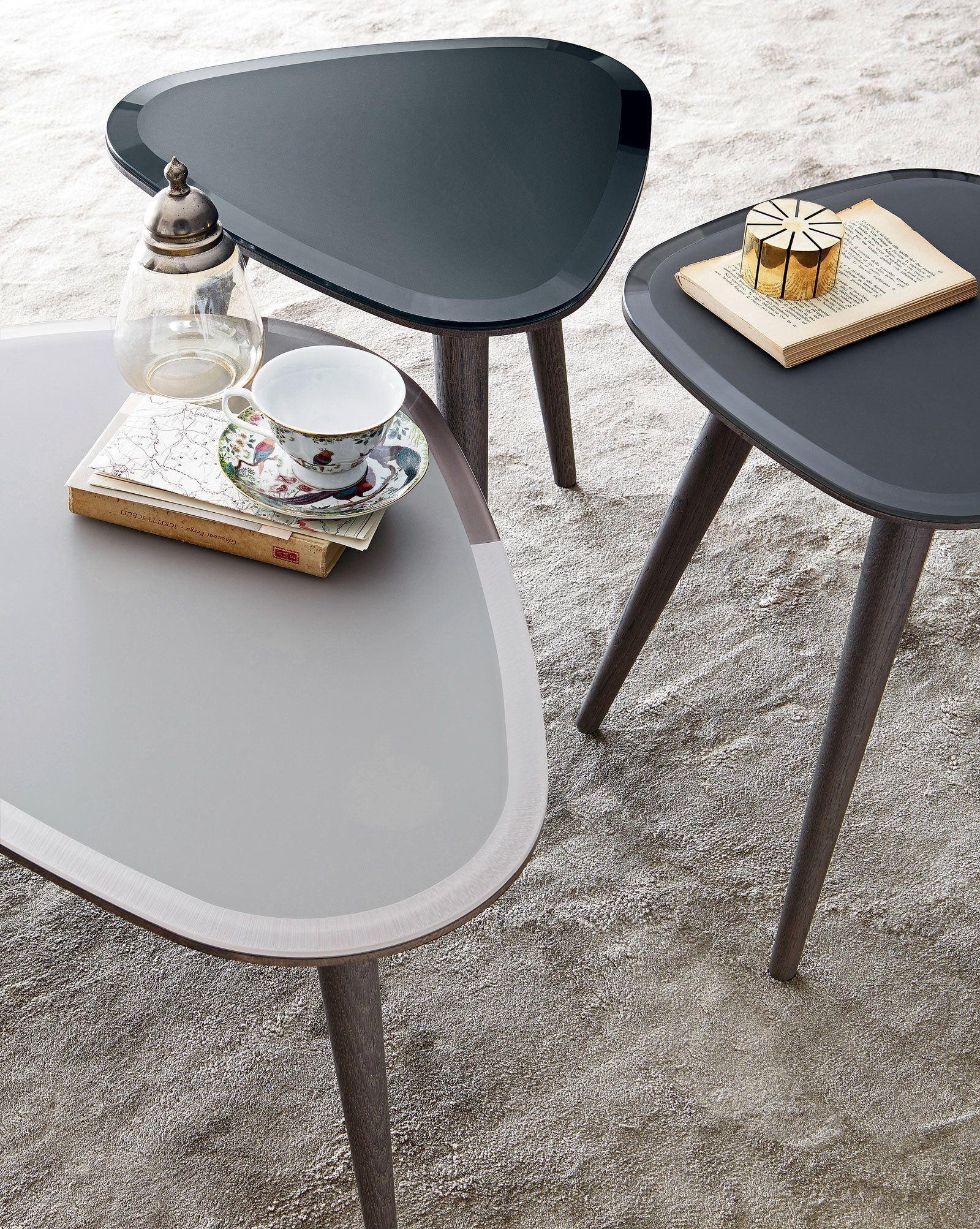Best Fifties Coffee Table Wood And Painted Glass Tavolo 400 x 300