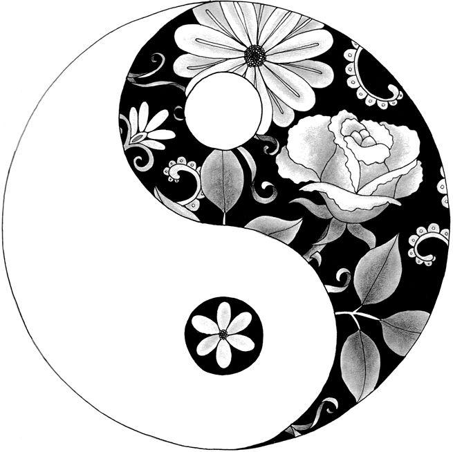 Image Result For Yin And Yang Mandala Coloring Pages Mandala Coloring Books Mandala Coloring