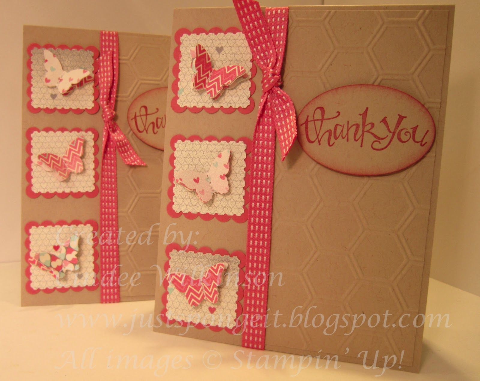 Just Sponge It: Valentine Square Swaps Turned into Cards