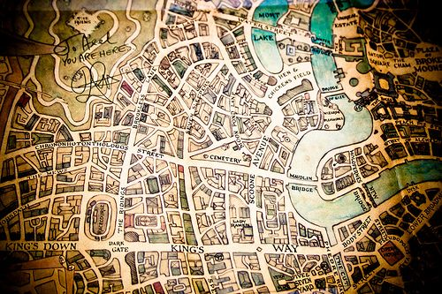 Detail Of The Streets Of Ankh Morpork Map Map Fantasy Map City