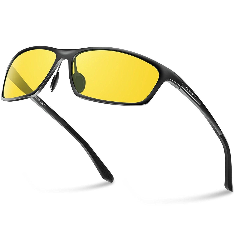 b0ad9b96ad024 Polarized Wayfarer Sunglasses for Men Women Retro Sun Glasses Metal Frame -  Night Vision-by - CK189TSR0ZU - Women s Sunglasses