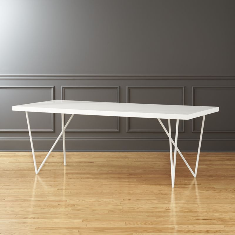 Shop Dylan 36 X80 White Dining Table This Upsized Beauty Is All