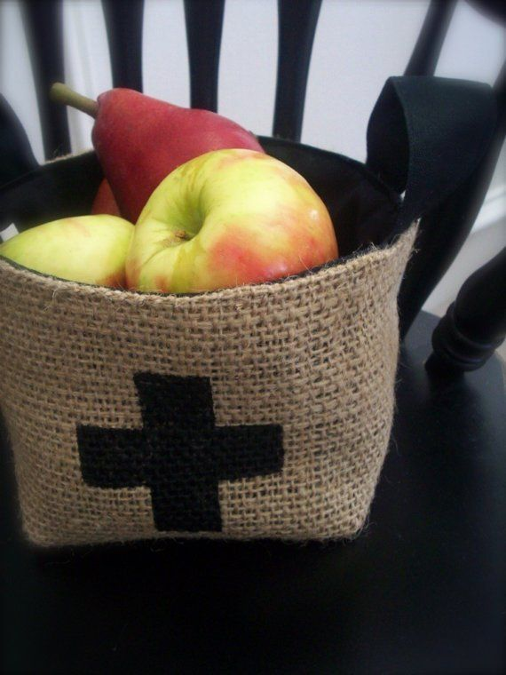 Small Coffee Sack Basket $20 // BrinandNohl