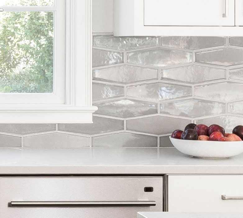 Elongated Hexagon Backsplash Pratt Larson Backsplash Kitchen White Cabinets Backsplash For White Cabinets Glass Tile Backsplash Kitchen