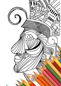 aztec mask coloring page coloring page download maya mask instant