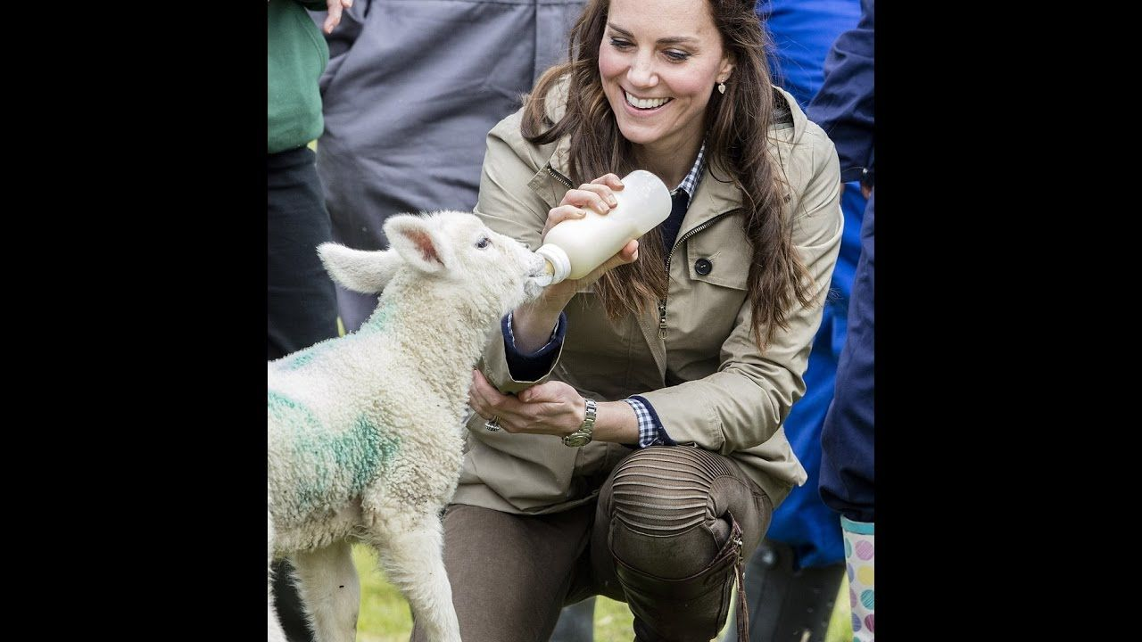The Duchess of Cambridge visits farmers fora week at Wick Court in Glouc...