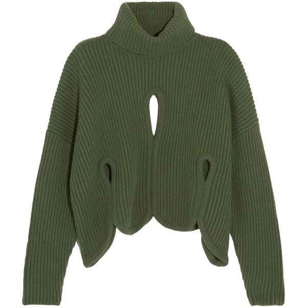 Nicekicks Cheap Price Nicekicks Cutout Ribbed Wool And Cashmere-blend Turtleneck Sweater - Red Antonio Berardi Good Selling Sale Online Shop Offer Online Buy Cheap Nicekicks cSYaJ8VLC