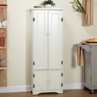 Shop For Simple Living Extra Tall Cabinet Get Free Delivery At Overstock Com Your Online Furniture Shop Get 5 In Rewards With Clu Tall Kitchen Cabinets Tall Cabinet Storage Kitchen Pantry Cabinets