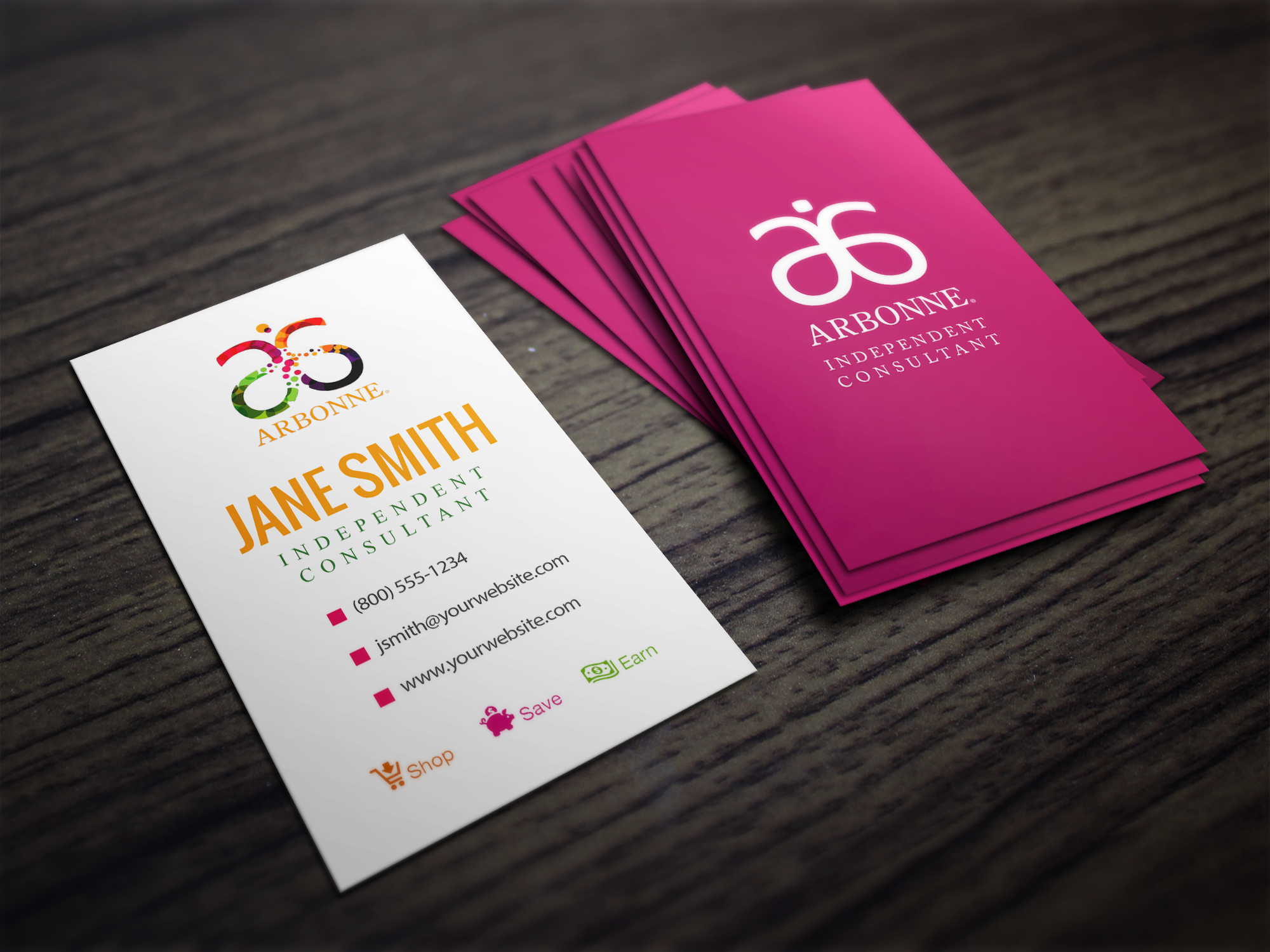 Arbonne Business Free Cards Independent Consultant Card Templates