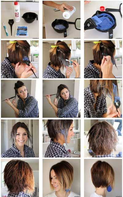 How To Do Ombre Hair At Home Step By Step Photos Ombre Hair Can Be Dyed At Home Too Ombre Hair Techniques Is Diy Ombre Hair Diy Highlights Hair Diy Hair