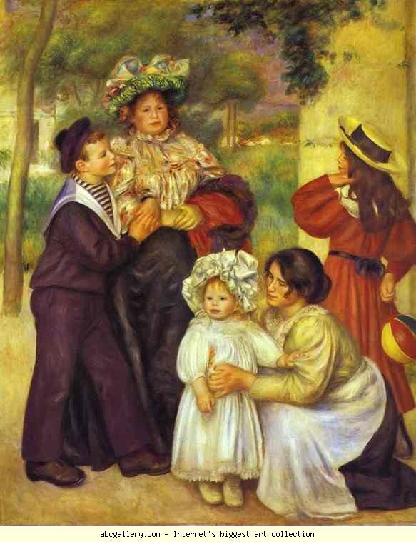 Pierre-Auguste Renoir. The Family of the Artist. Olga's Gallery.