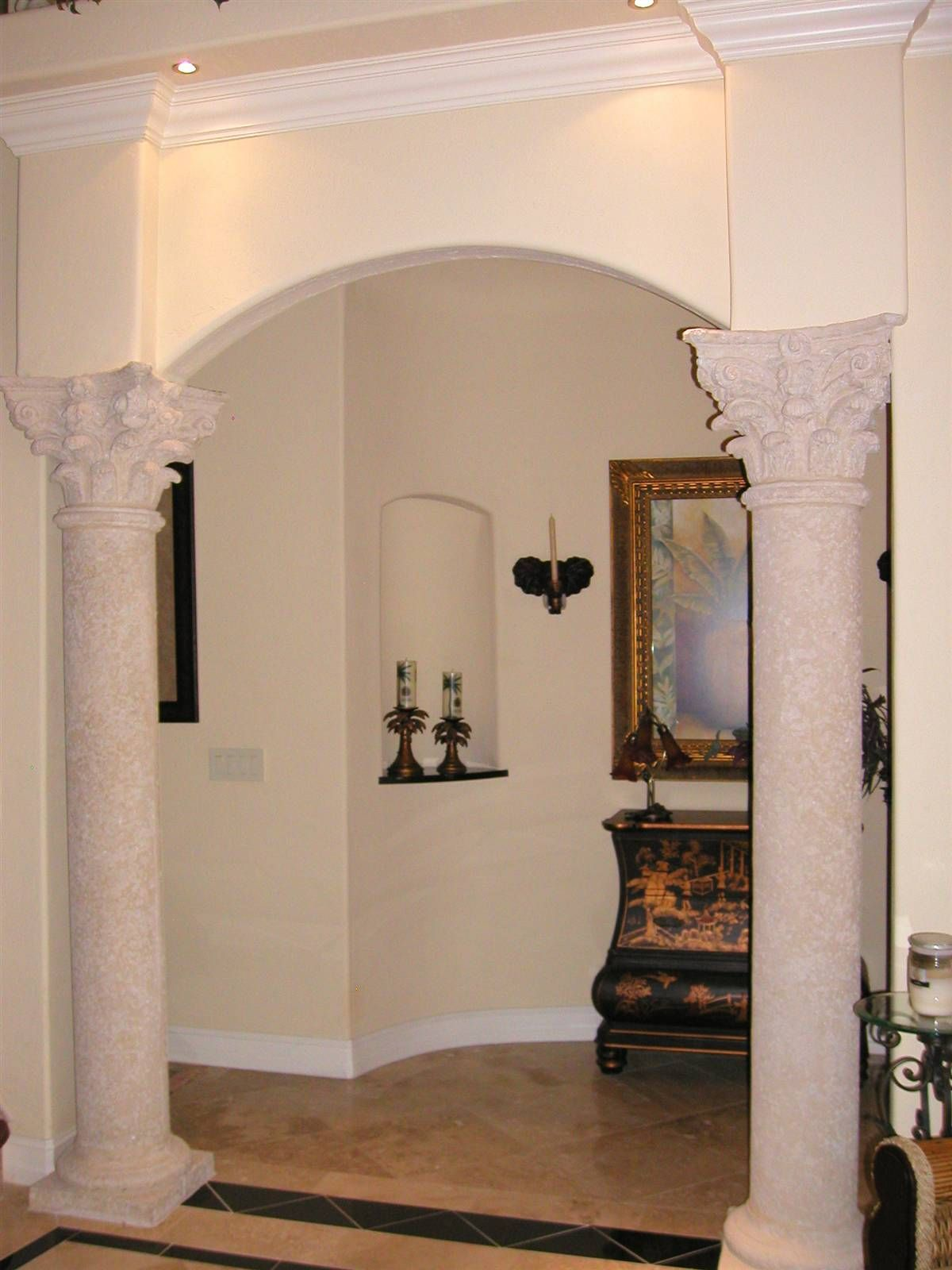 Pin by rahayu12 on simple room low budget modern and - Decorative columns interior design ...