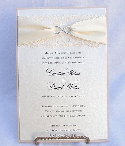 Infinity Symbol Wedding Invitations