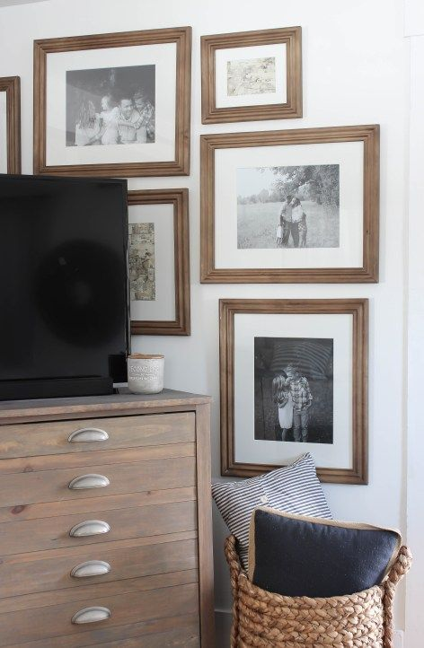 New Frames Around The Tv Rooms For Rent Blog Gallery Walls
