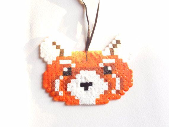 Pixel Art Firefox Hama Beads To Hang By Nostalgeek On Etsy
