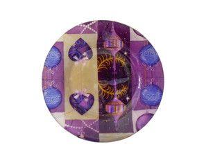 Prato Natal Purple Balls Sobremesa