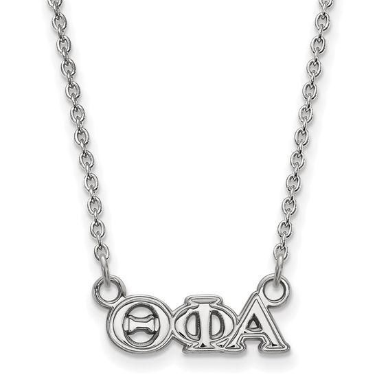 Zales Phi Sigma Sigma Small Sorority Necklace in Sterling Silver XNDs4f