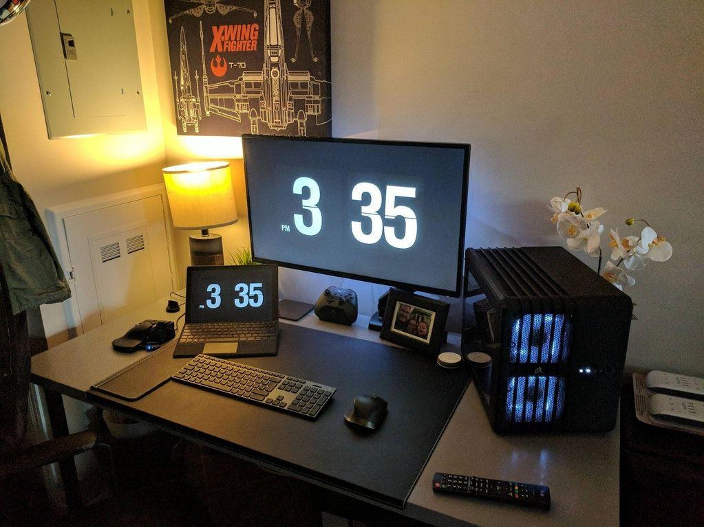 New setup after a move. V4.3 battlestations Imac desk