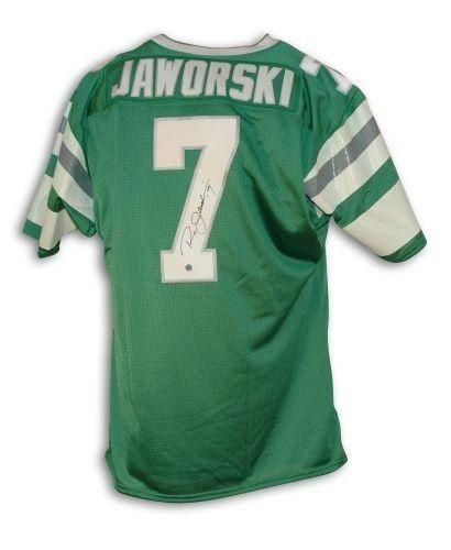 buy online 36256 bdc6b Ron Jaworski Autographed Uniform - Green Throwback ...