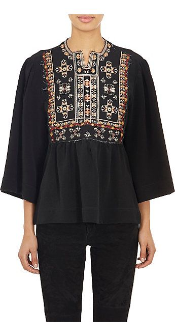 Isabel Marant Embroidered Roma Blouse - Blouses - Barneys.com