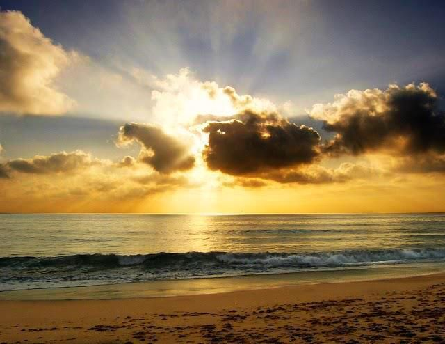 Myrtle Beach sunrise. Would love to be sitting there right now, with a cup of coffee in my hand.