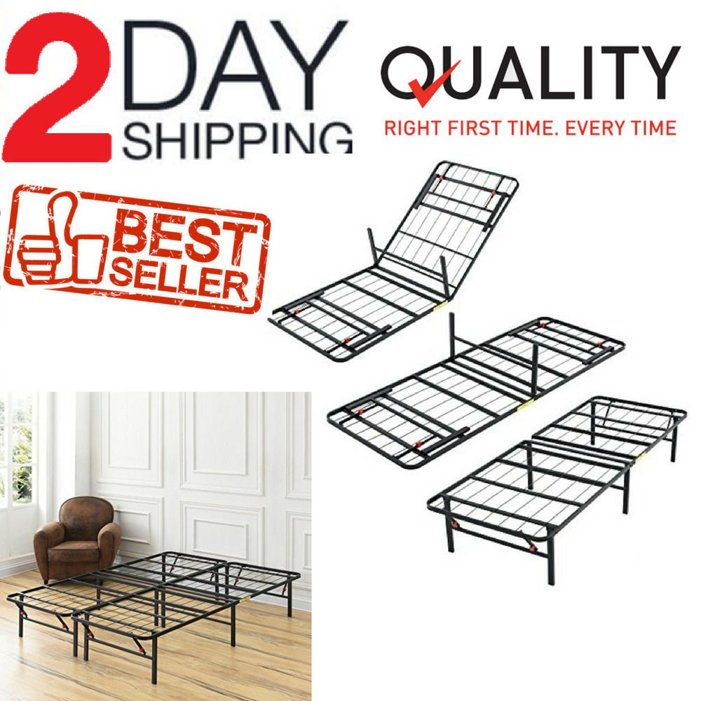 QUEEN Size Bed Frame Heavy Duty Mattress Platform Folding