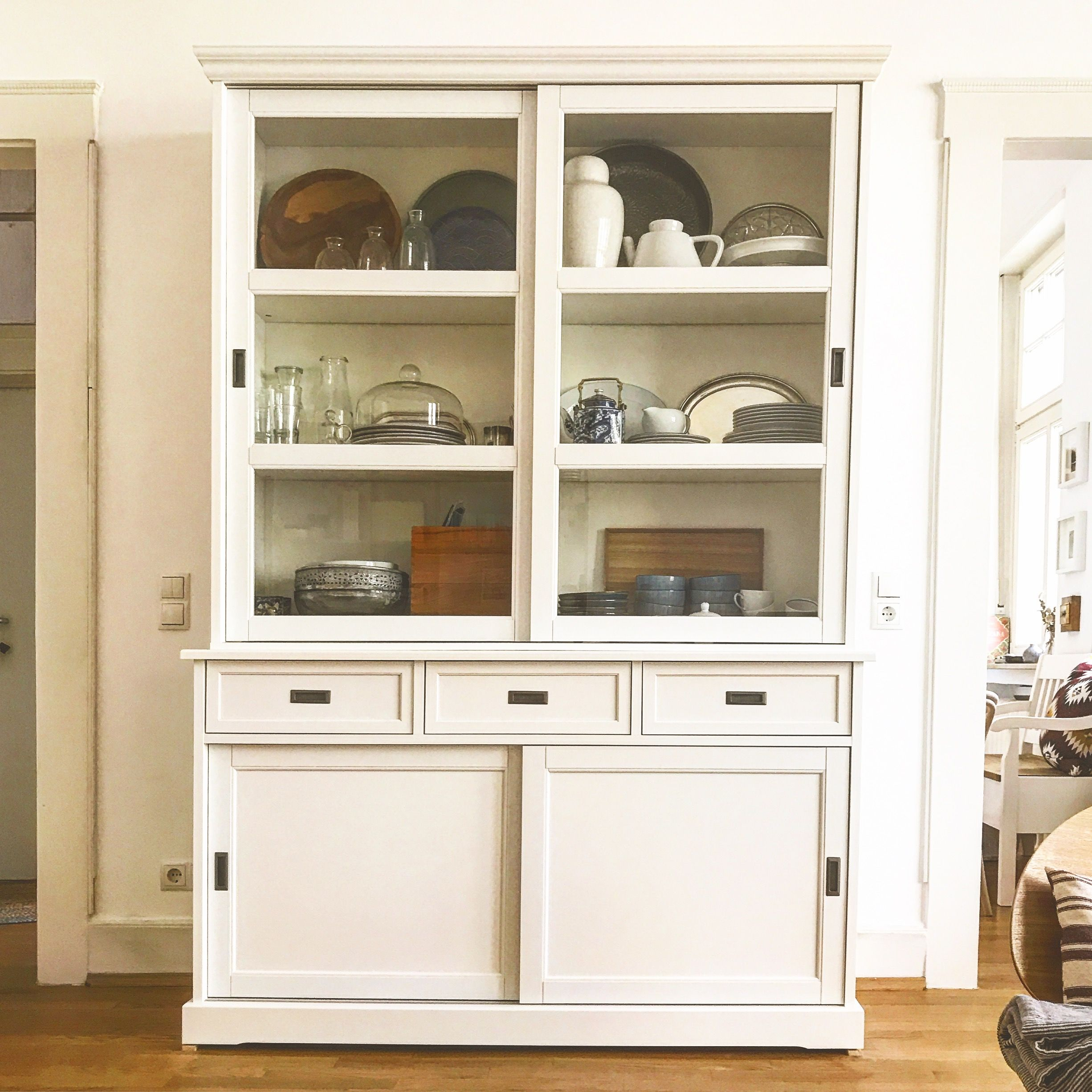 White Cabinet Kitchen Cabinet Ikea Cabinet China Cabinet Tableware In 2020 Ikea Cabinets Ikea China Cabinet China Cabinet