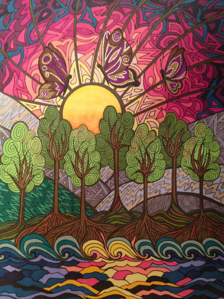 Jessica Burns 18 Division From Creative Haven Dreamscapes Coloring Book